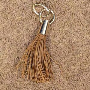 Accessories - Brown Leather Handbag Tassel